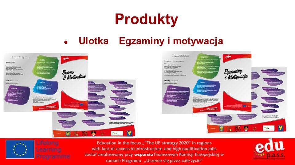 Produkty Ulotka Egzaminy i motywacja