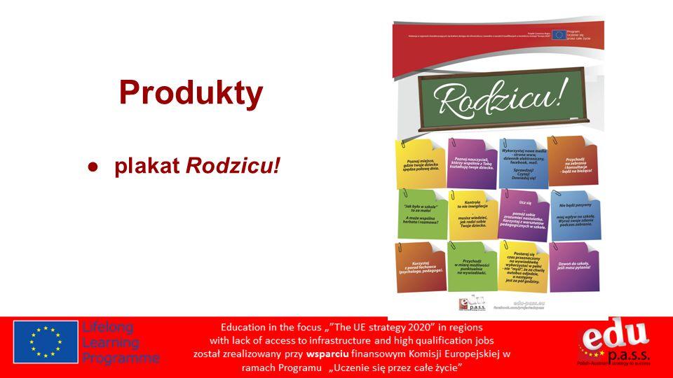 Produkty plakat Rodzicu!