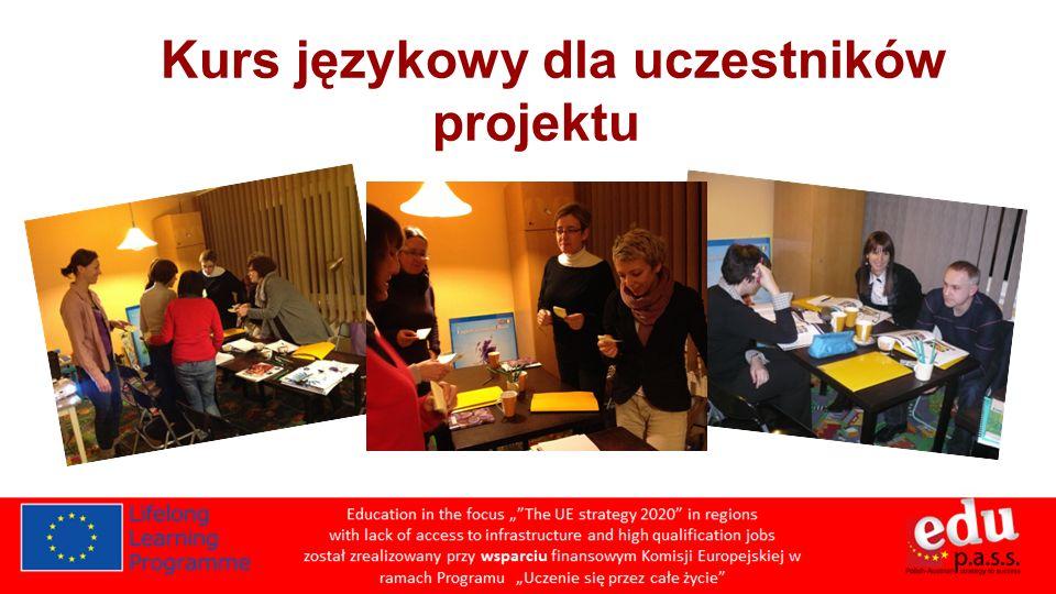 Kurs językowy dla uczestników projektu
