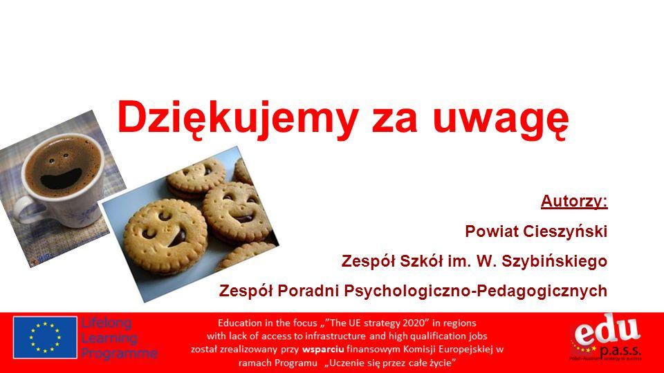 Dziękujemy za uwagę Autorzy: Powiat Cieszyński Zespół Szkół im.