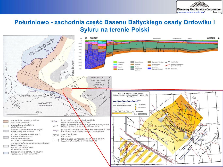 Południowo - zachodnia część Basenu Bałtyckiego osady Ordowiku i Syluru na terenie Polski
