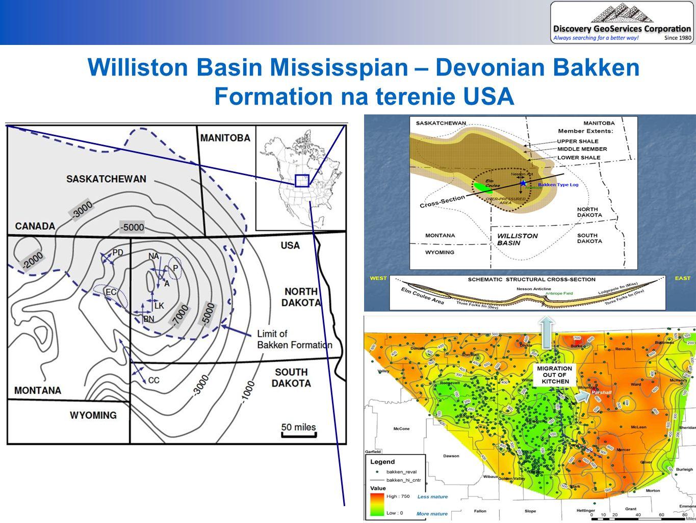 BAKKEN FORMATION BASEN BAŁTYCKI BRIGHAM OIL&GAS #Brigham Olson 10-15-1H Sec.30 T154N, R102W Conoco-Philips/LaneEnergy #Łebień LE1