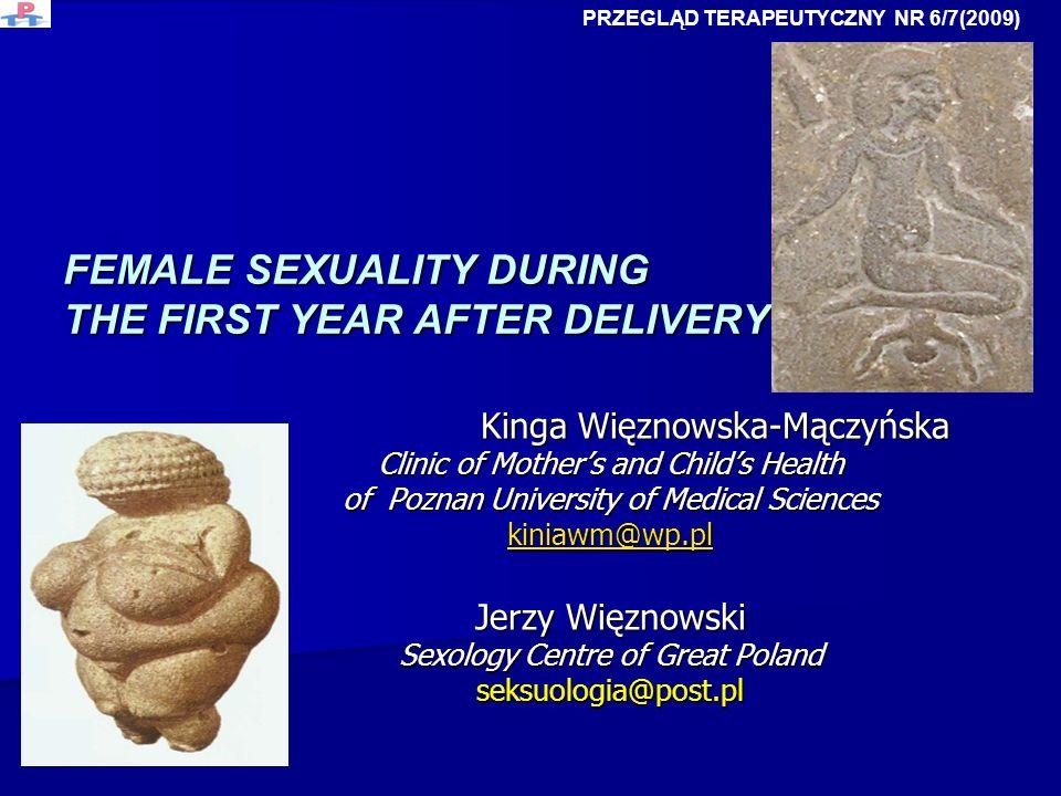 FEMALE SEXUALITY DURING THE FIRST YEAR AFTER DELIVERY Kinga Więznowska-Mączyńska Kinga Więznowska-Mączyńska Clinic of Mothers and Childs Health of Poz