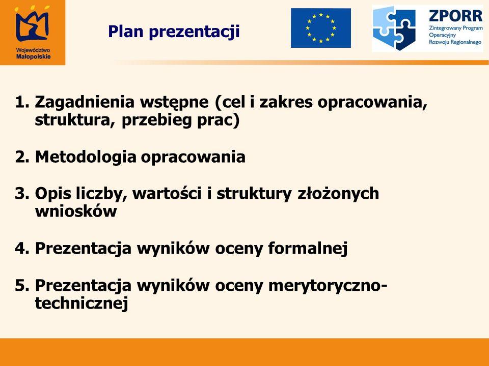 Plan prezentacji 1.Zagadnienia wstępne (cel i zakres opracowania, struktura, przebieg prac) 2.Metodologia opracowania 3.Opis liczby, wartości i strukt