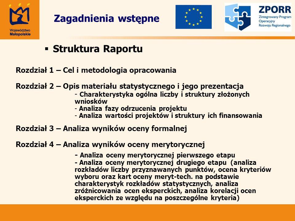 Struktura Raportu Rozdział 1 – Cel i metodologia opracowania Rozdział 2 – Opis materiału statystycznego i jego prezentacja - Charakterystyka ogólna li