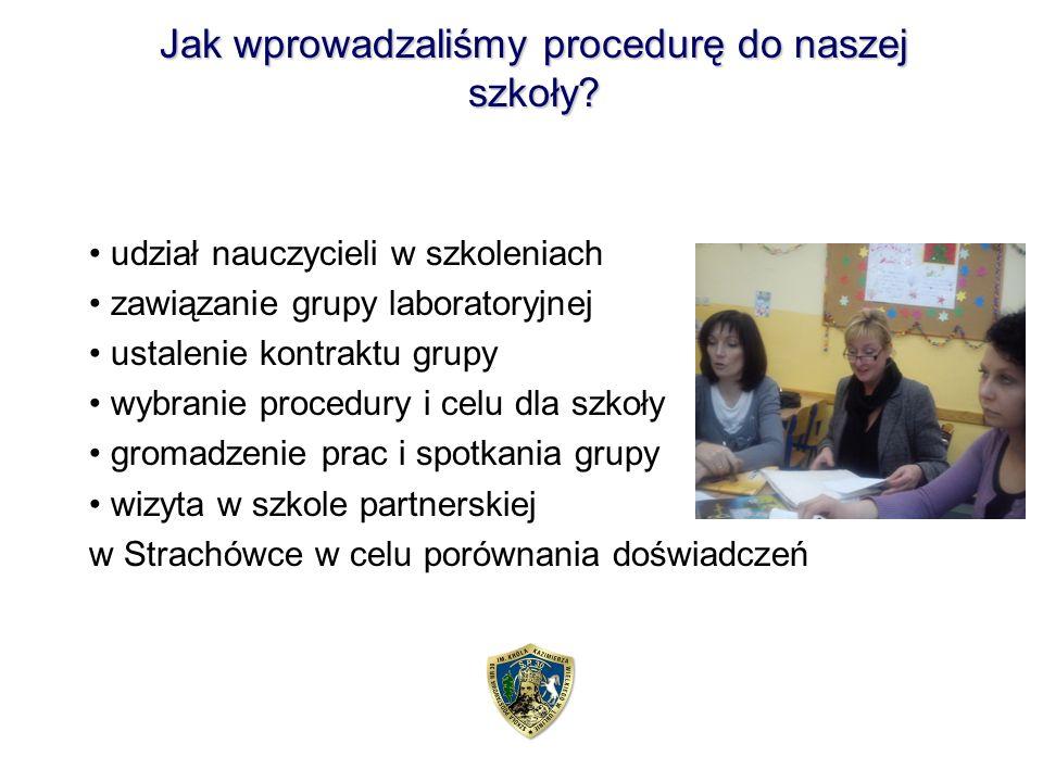 Jak wprowadzaliśmy procedurę do naszej szkoły.