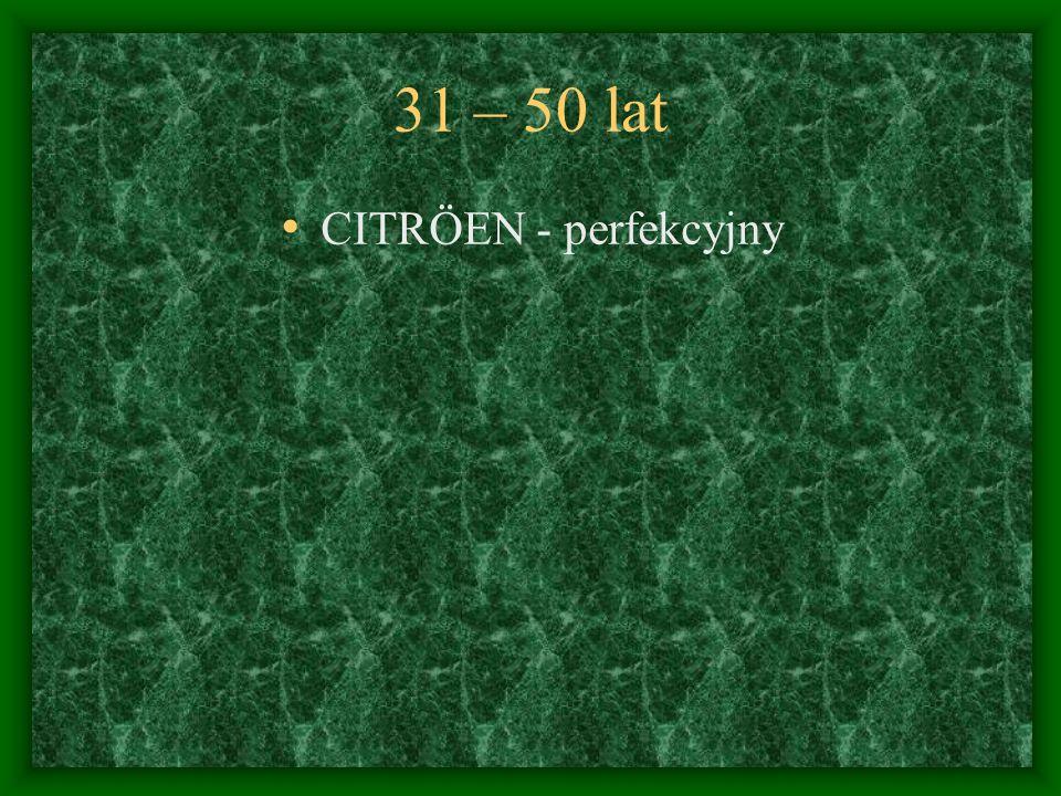 31 – 50 lat CITRÖEN - perfekcyjny