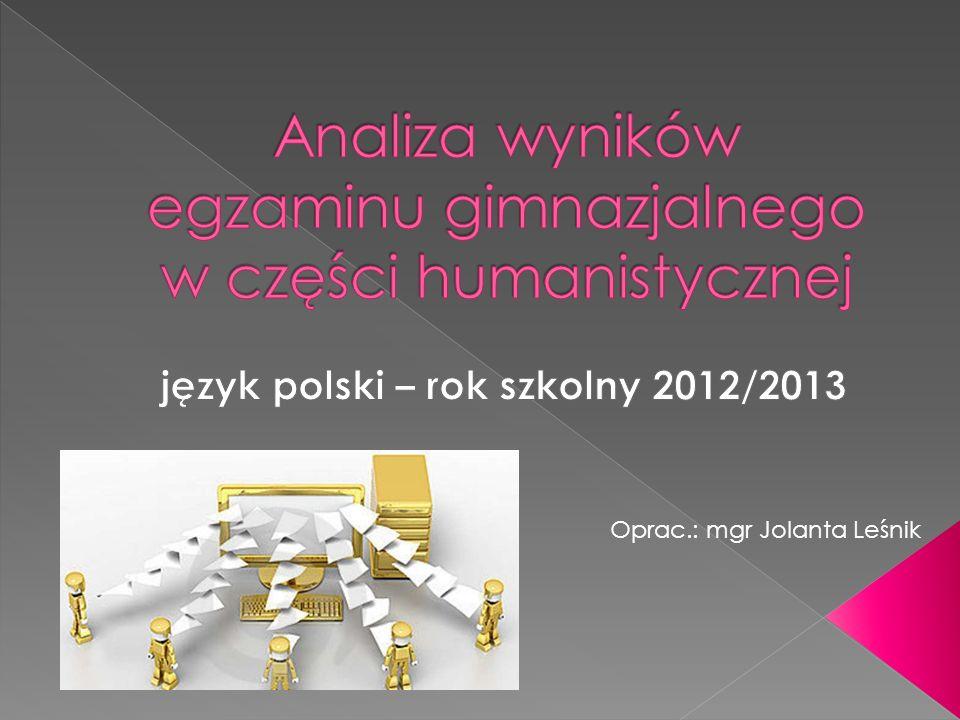 Oprac.: mgr Jolanta Leśnik