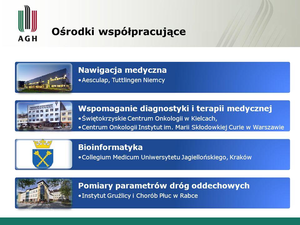 Nawigacja medyczna Aesculap, Tuttlingen Niemcy Wspomaganie diagnostyki i terapii medycznej Świętokrzyskie Centrum Onkologii w Kielcach, Centrum Onkolo