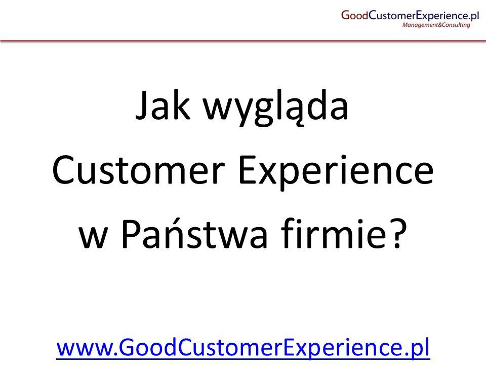 Jak wygląda Customer Experience w Państwa firmie? www.GoodCustomerExperience.pl
