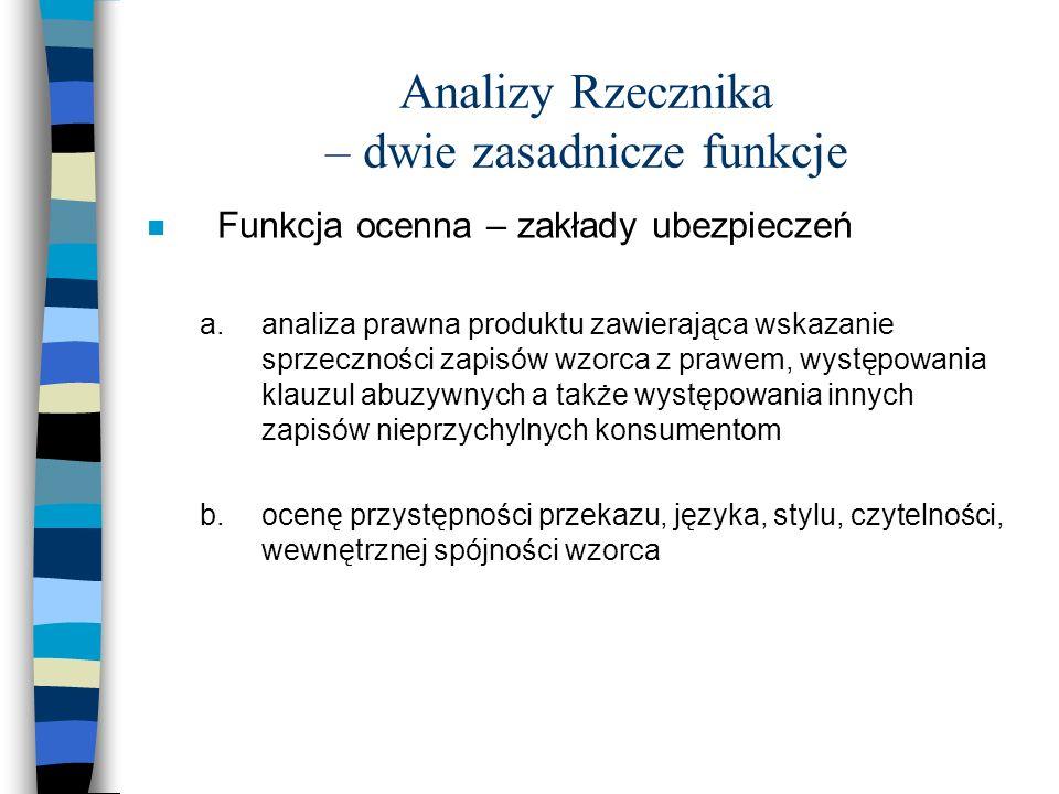 Analizy Rzecznika w liczbach ogółem w okresie od lutego 2005 do sierpnia 2006r.