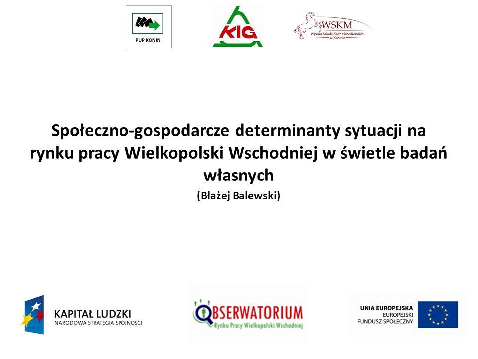 Społeczno-gospodarcze determinanty sytuacji na rynku pracy Wielkopolski Wschodniej w świetle badań własnych (Błażej Balewski)