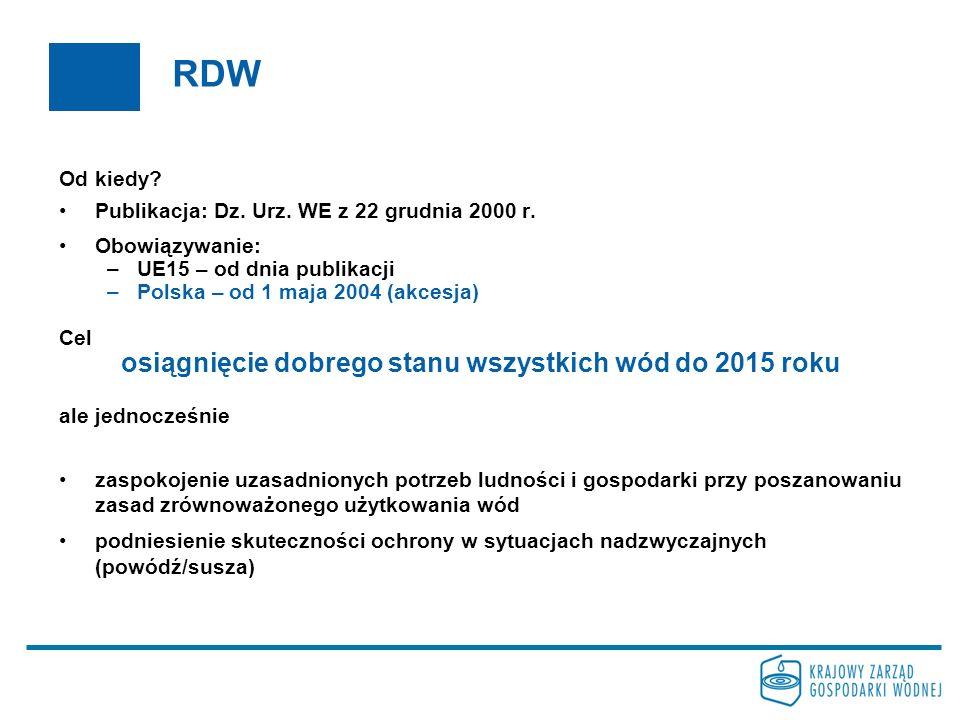 RDW Od kiedy? Publikacja: Dz. Urz. WE z 22 grudnia 2000 r. Obowiązywanie: –UE15 – od dnia publikacji –Polska – od 1 maja 2004 (akcesja) Cel osiągnięci