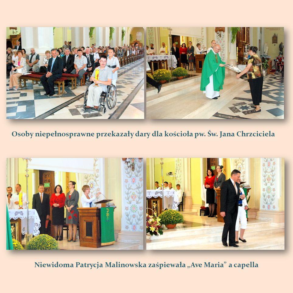 Osoby niepełnosprawne przekazały dary dla kościoła pw. Św. Jana Chrzciciela Niewidoma Patrycja Malinowska zaśpiewała Ave Maria a capella