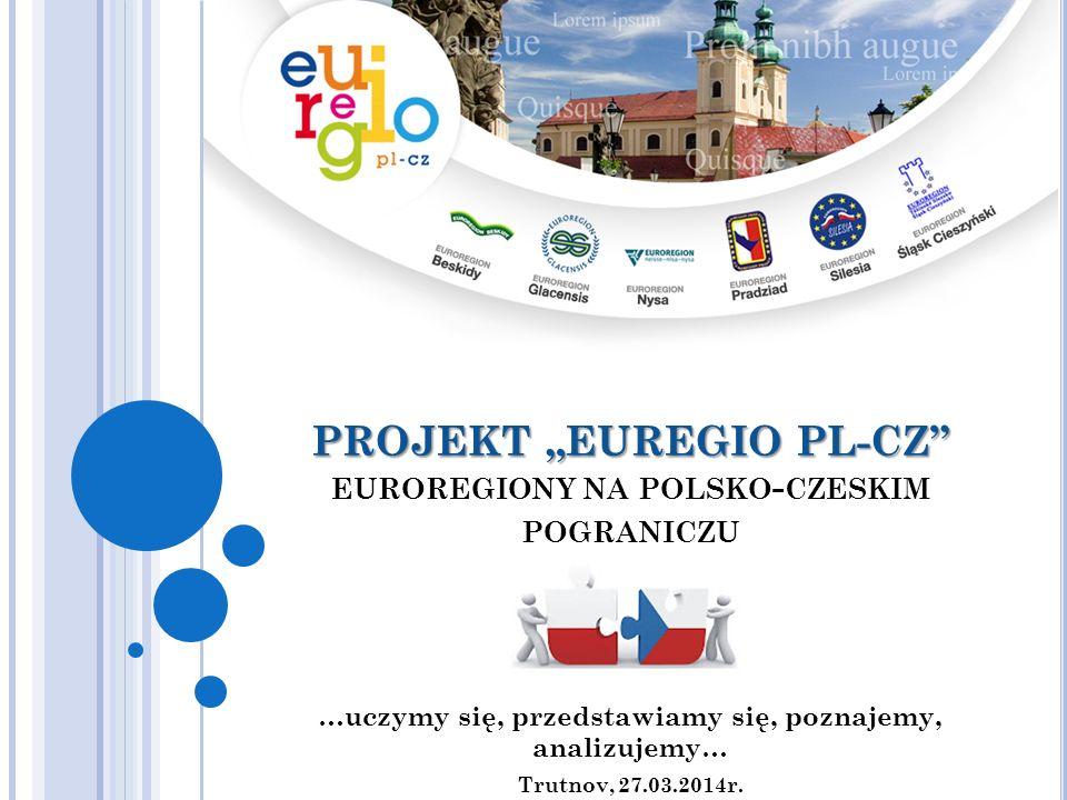 PROJEKT EUREGIO PL-CZ PROJEKT EUREGIO PL-CZ EUROREGIONY NA POLSKO - CZESKIM POGRANICZU …uczymy się, przedstawiamy się, poznajemy, analizujemy… Trutnov