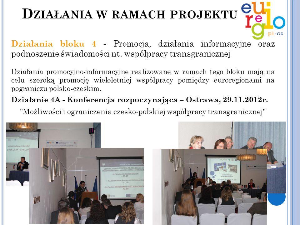 Działania bloku 4 - Promocja, działania informacyjne oraz podnoszenie świadomości nt. współpracy transgranicznej Działania promocyjno-informacyjne rea