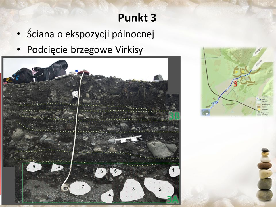 Punkt 3 Ściana o ekspozycji pólnocnej Podcięcie brzegowe Virkisy 3