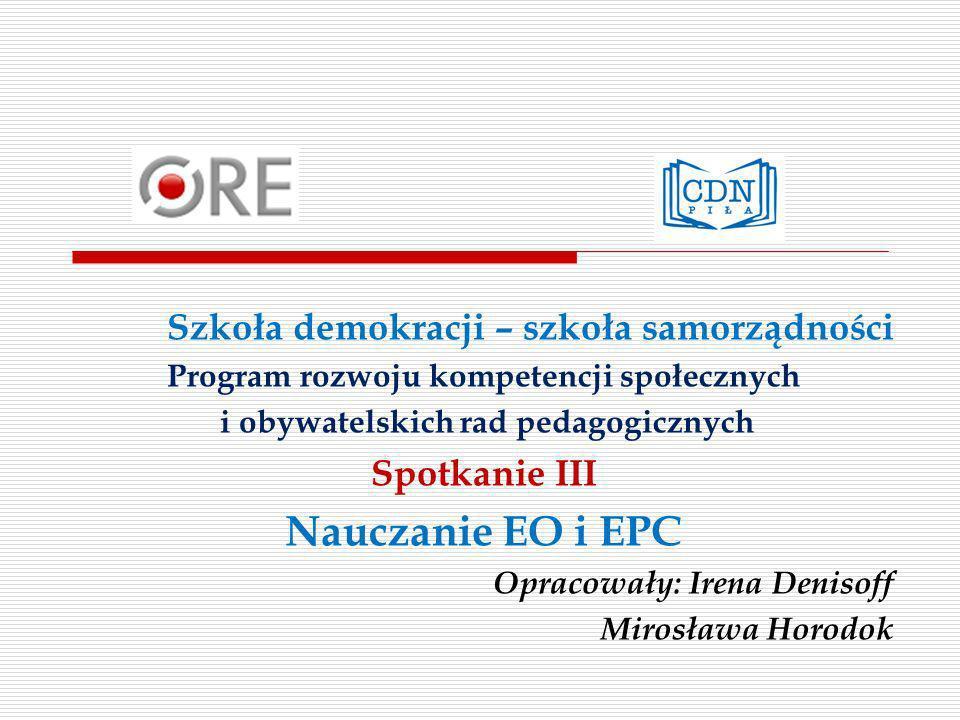 Szkoła demokracji – szkoła samorządności Kompetencja 8.