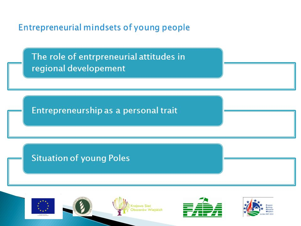Potential of the young ones The need to support young from the rural areas