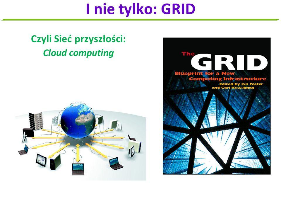 Czyli Sieć przyszłości: Cloud computing I nie tylko: GRID