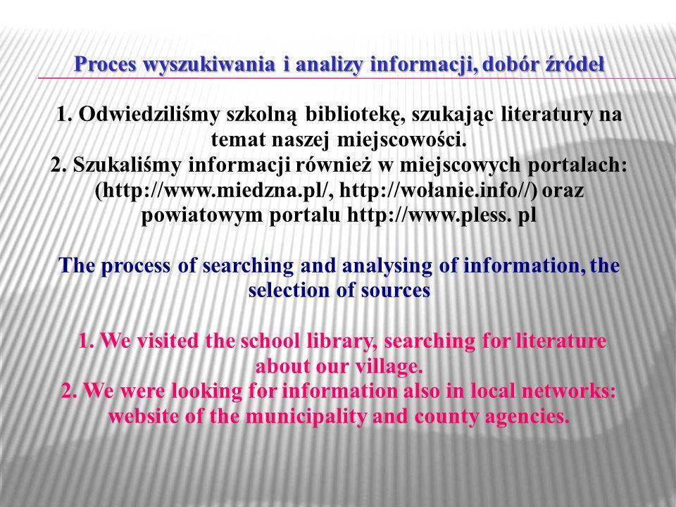 Proces wyszukiwania i analizy informacji, dobór źródeł 1.