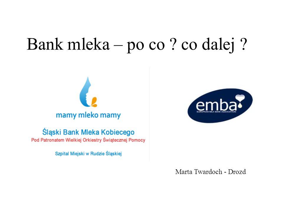 Bank mleka – po co ? co dalej ? Marta Twardoch - Drozd