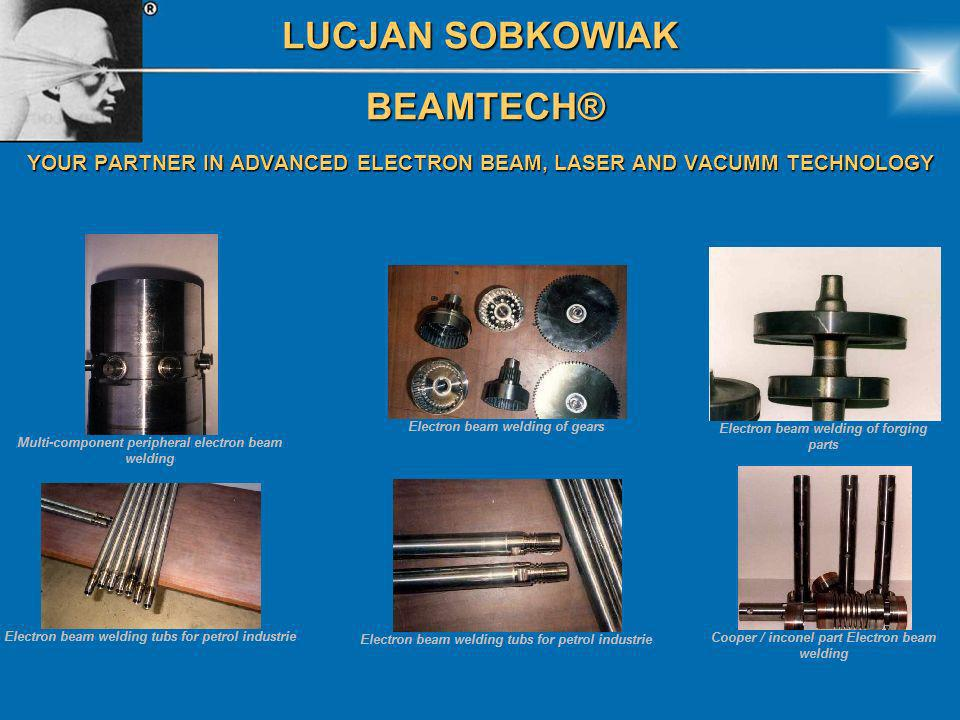 LUCJAN SOBKOWIAK BEAMTECH® BEAMTECH® YOUR PARTNER IN ADVANCED ELECTRON BEAM, LASER AND VACUMM TECHNOLOGY Electrical generator partial vue