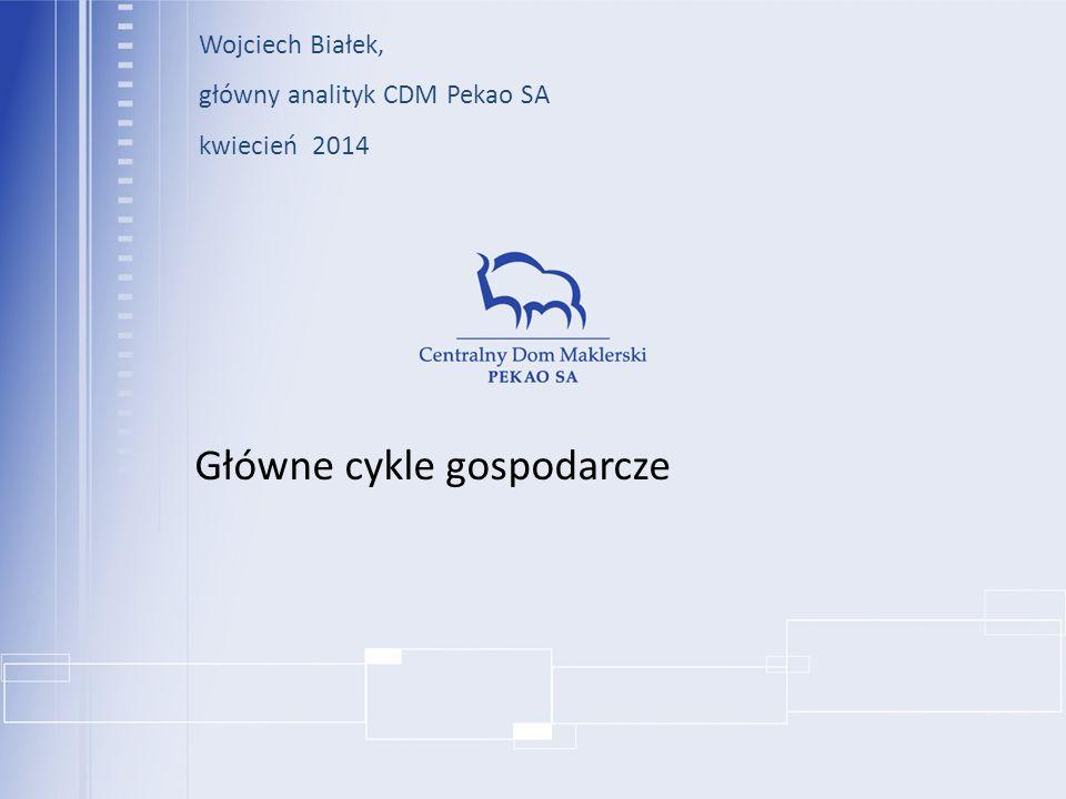 Główne cykle gospodarcze Wojciech Białek, główny analityk CDM Pekao SA kwiecień 2014
