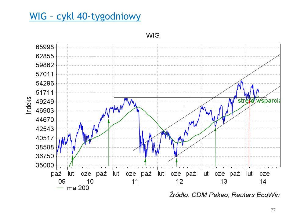 WIG – cykl 40-tygodniowy 77