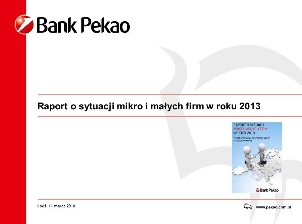 Raport o sytuacji mikro i małych firm w roku 2013 Łódź, 11 marca 2014