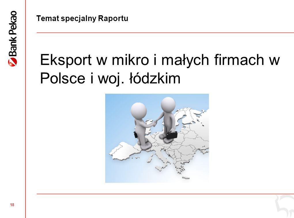 18 Temat specjalny Raportu Eksport w mikro i małych firmach w Polsce i woj. łódzkim