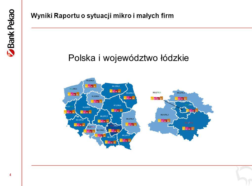 4 Polska i województwo łódzkie Wyniki Raportu o sytuacji mikro i małych firm
