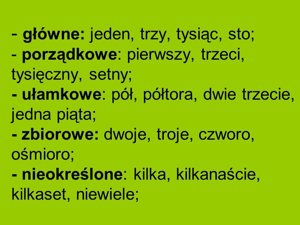 ZAIMEK jest częścią mowy zastępującą rzeczownik (np.