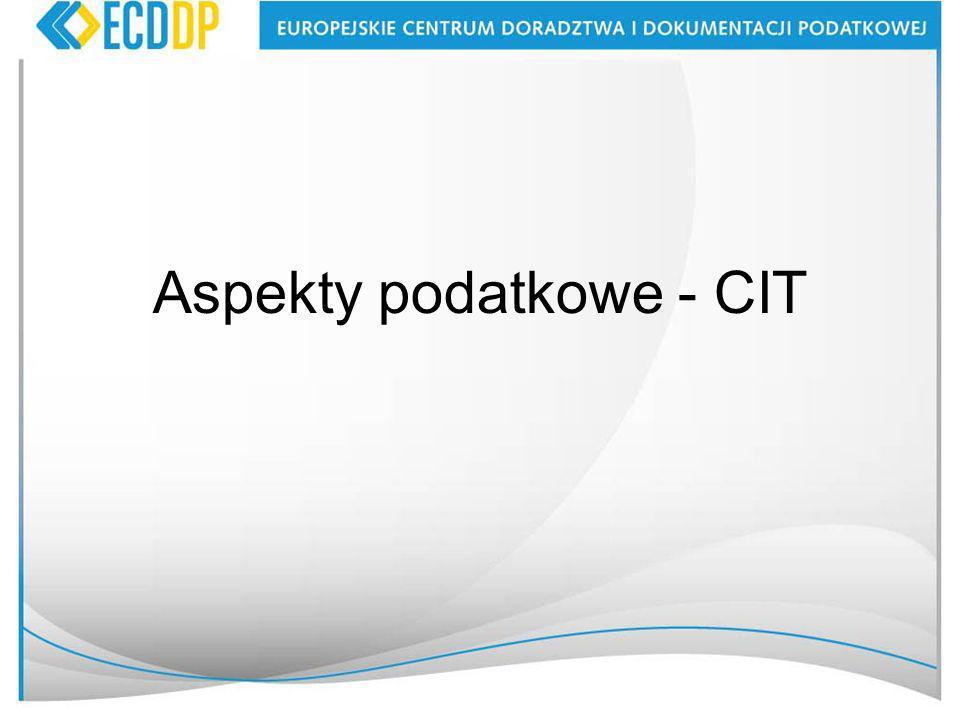 Aspekty podatkowe - CIT
