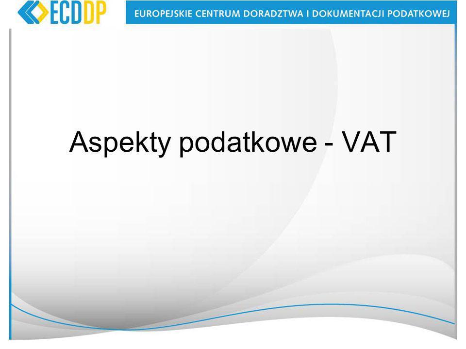 Aspekty podatkowe - VAT