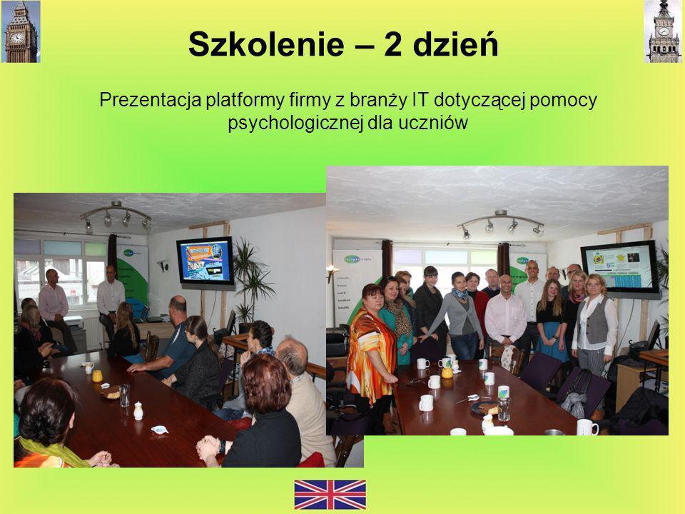 Szkolenie – 2 dzień Prezentacja platformy firmy z branży IT dotyczącej pomocy psychologicznej dla uczniów