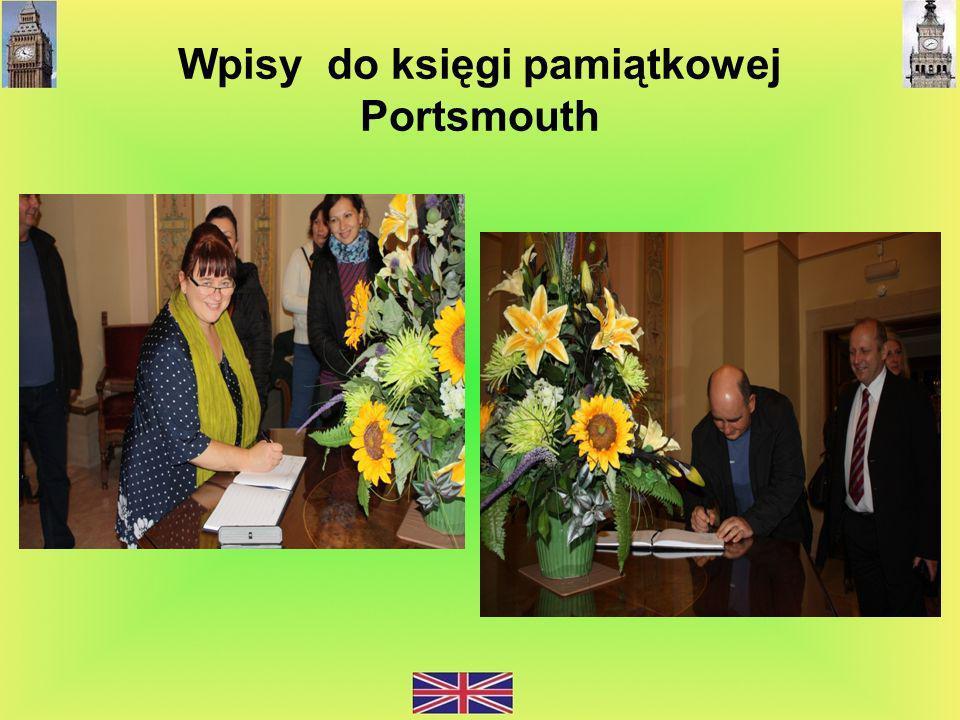 Wpisy do księgi pamiątkowej Portsmouth