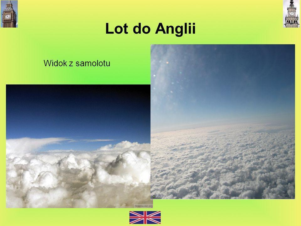 Lot do Anglii Widok z samolotu