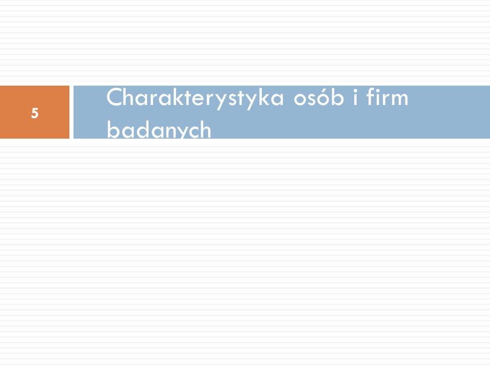 Charakterystyka osób i firm badanych 5