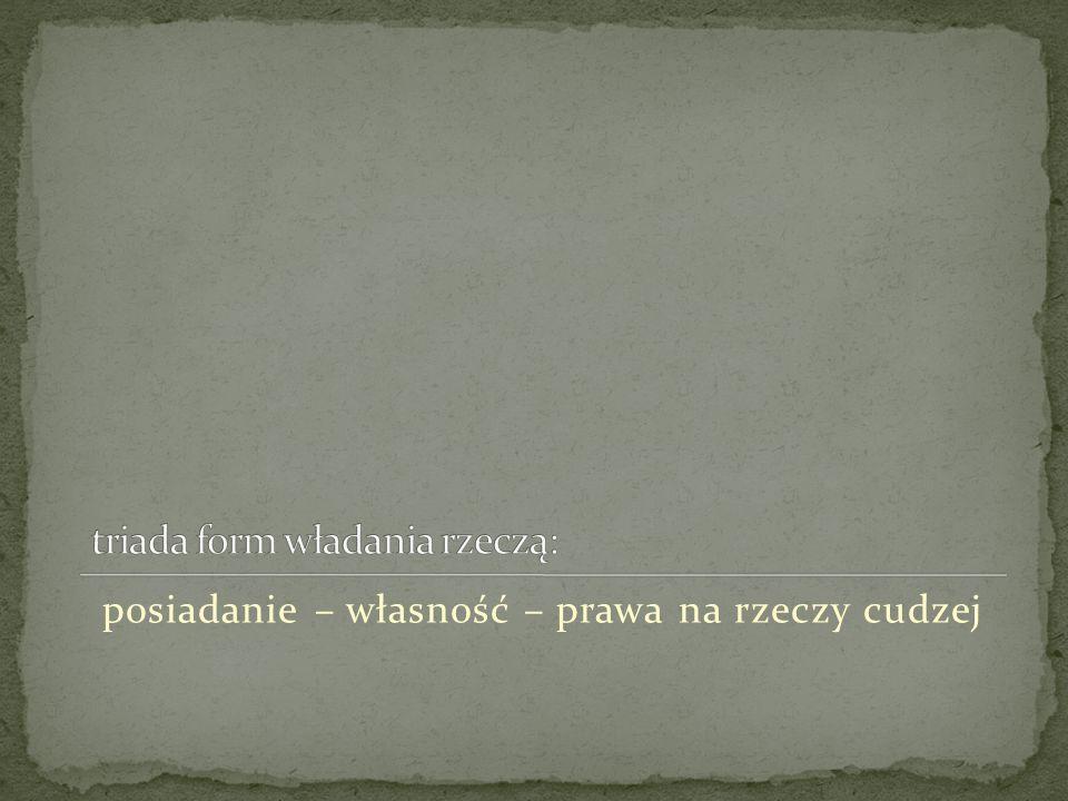 usucapio pro herede usucapio possessio – właściwie od III wieku przed Chr., gdy pojawiają się interdykty posesoryjne