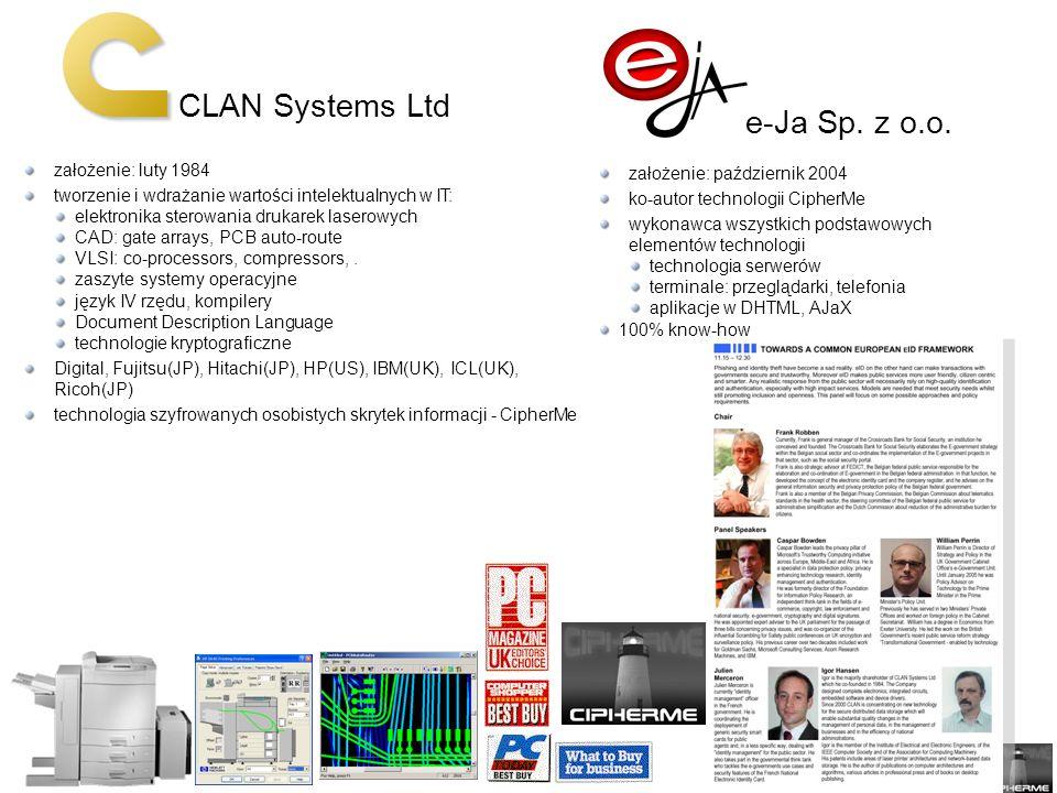 CLAN Systems Ltd e-Ja Sp.z o.o.