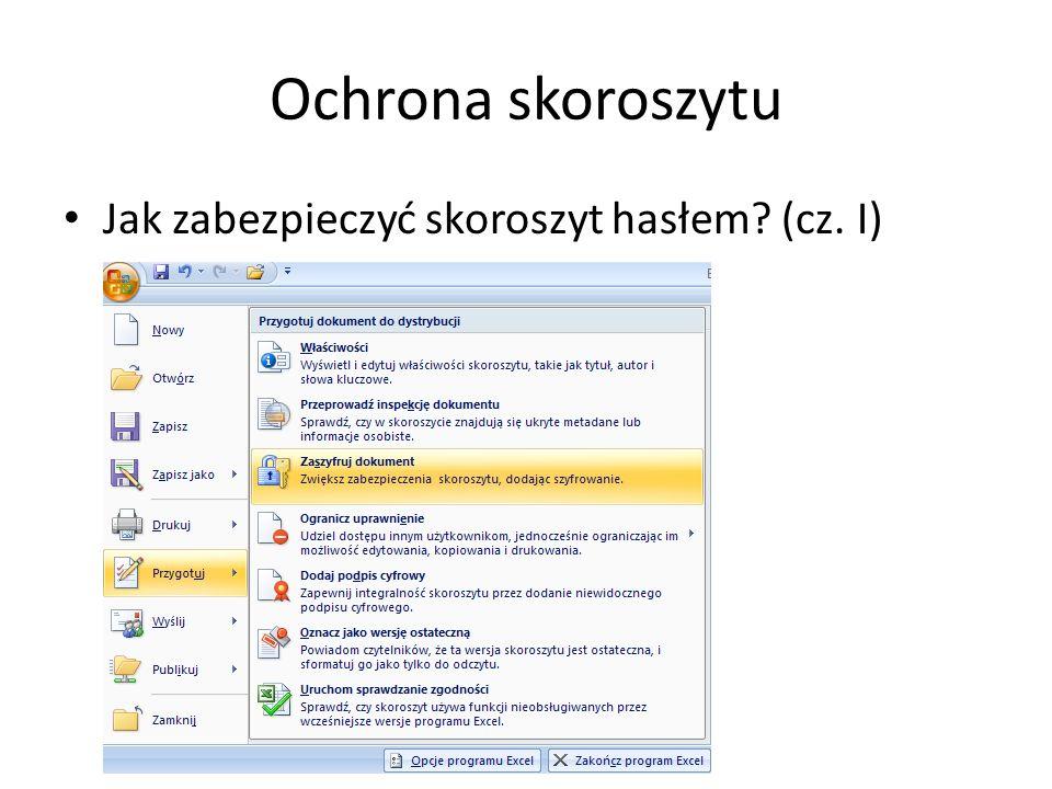 Ochrona skoroszytu Jak zabezpieczyć skoroszyt hasłem? (cz. I)