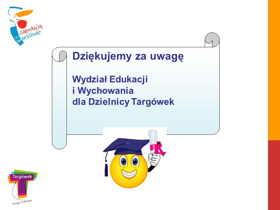 Dziękujemy za uwagę Wydział Edukacji i Wychowania dla Dzielnicy Targówek