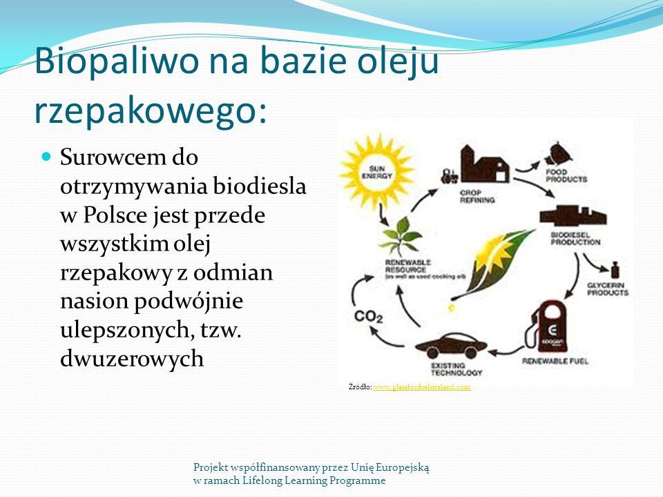 Biopaliwo na bazie oleju rzepakowego: Surowcem do otrzymywania biodiesla w Polsce jest przede wszystkim olej rzepakowy z odmian nasion podwójnie ulepszonych, tzw.