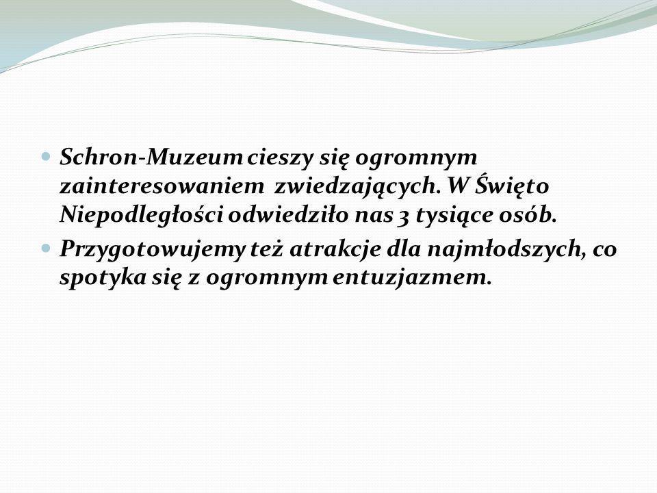 Schron-Muzeum cieszy się ogromnym zainteresowaniem zwiedzających.