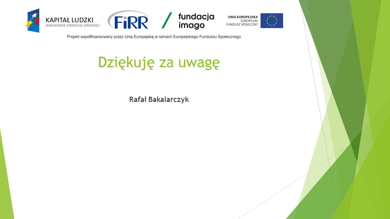 Dziękuję za uwagę Rafał Bakalarczyk