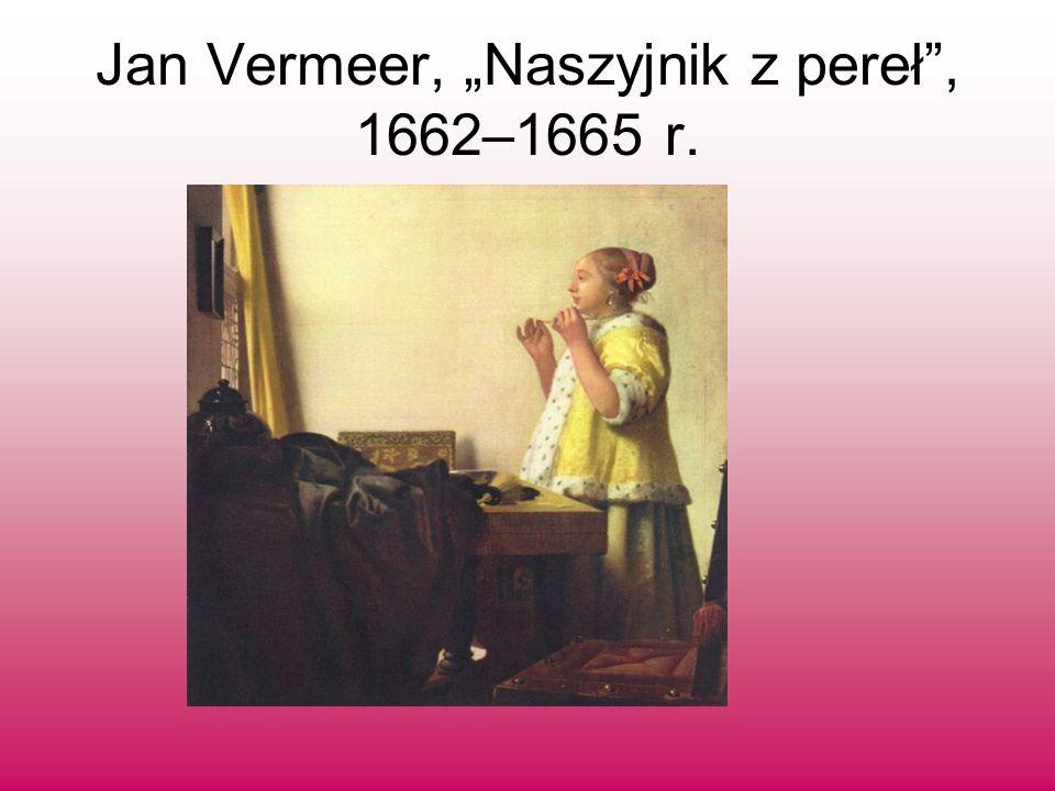 Obraz ten ma wiele cech wspólnych z dziełami innych malarz holenderskich: okno, stół, dwa krzesła i – przed pustą ścianą – kobieca postać.