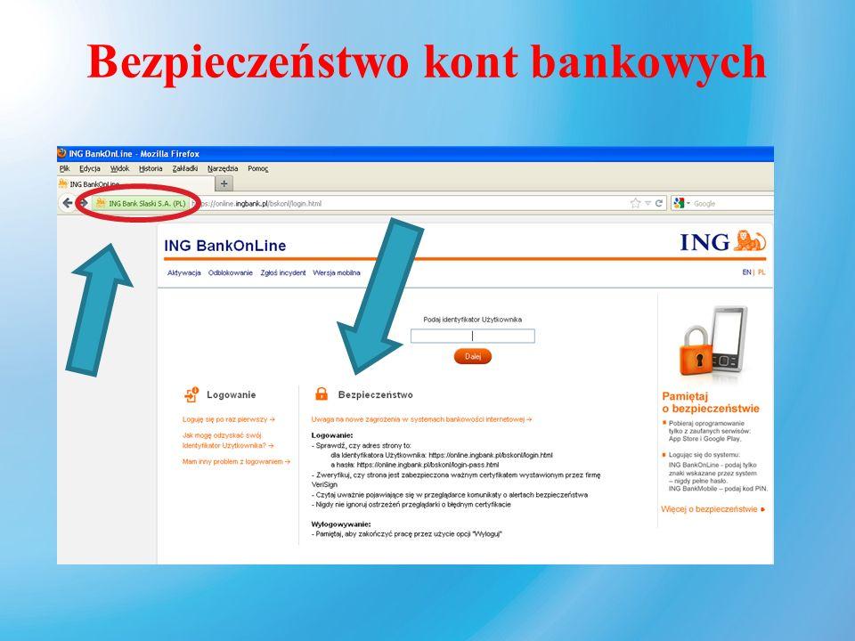 Bezpieczeństwo kont bankowych