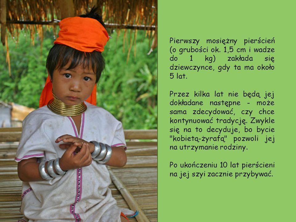 Kobiety pozują do zdjęć uszczęśliwionym turystom. Turyści odwiedzający wioskę kobiet Padaung nie muszą pytać o pozwolenie zrobienia zdjęcia (przywilej