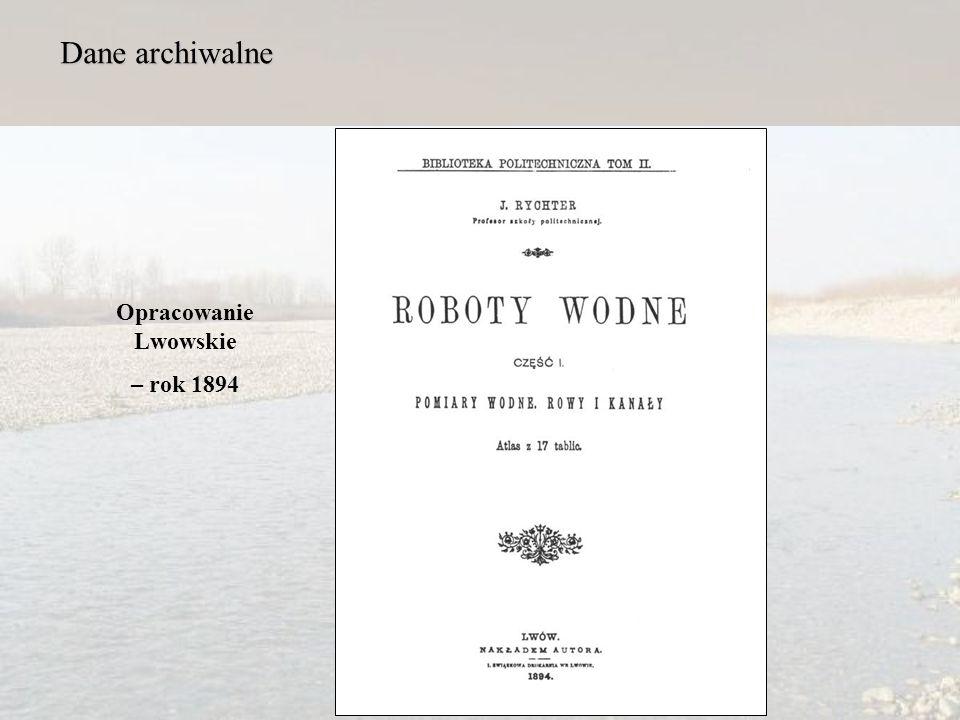 Dane archiwalne Opracowanie Lwowskie – rok 1894